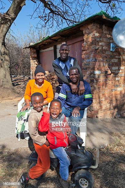 African Rural Family Happy and Smiling