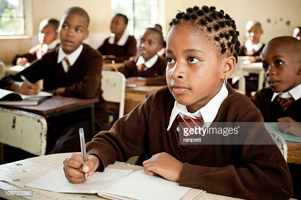 african school children in the classroom - uniform stock pictures, royalty-free photos & images