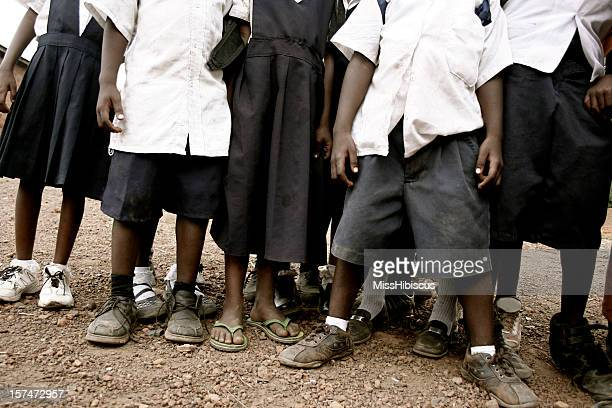 african school children - dirty feet stock pictures, royalty-free photos & images