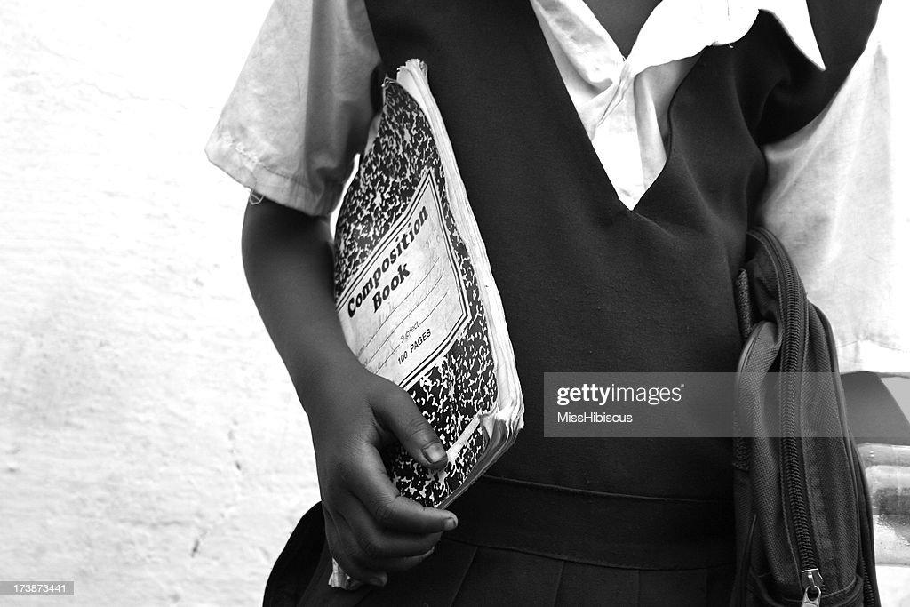 Africana School Girl : Foto de stock