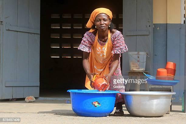 African school worker