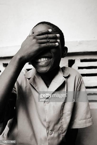 afrikanischer schulkind-nur jungen - hausa stock-fotos und bilder
