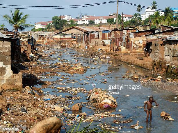 african slum - freetown sierra leone stock pictures, royalty-free photos & images