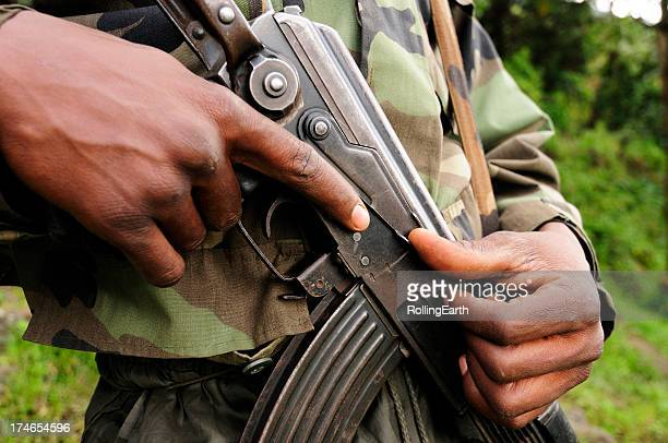 african soldier - guerrilla warfare stock pictures, royalty-free photos & images