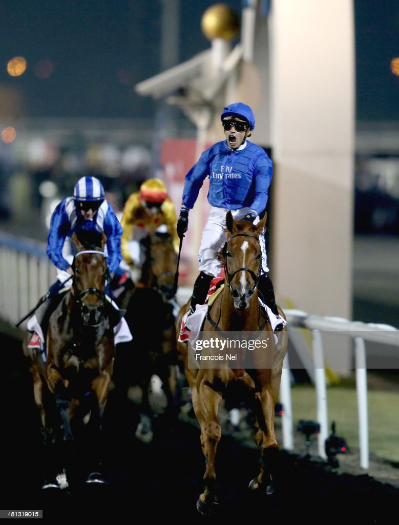 African Story ridden by Silvestre De Sousa wins the Dubai World Cup at the Meydan Racecourse on March 29, 2014 in Dubai, United Arab Emirates.