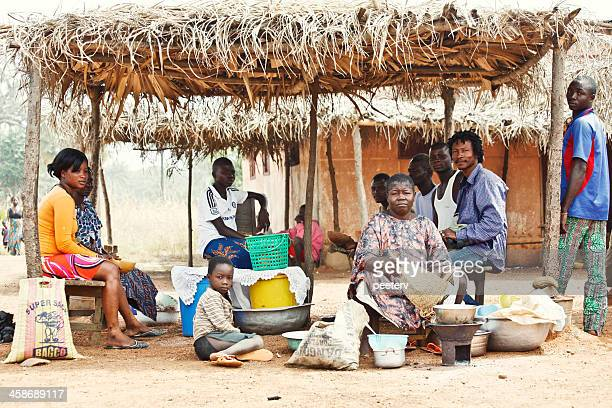 african street bar. - togo stock pictures, royalty-free photos & images