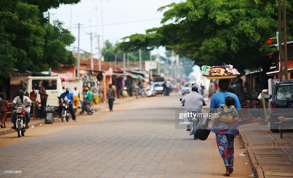 Escena de la calle africana : Foto de stock