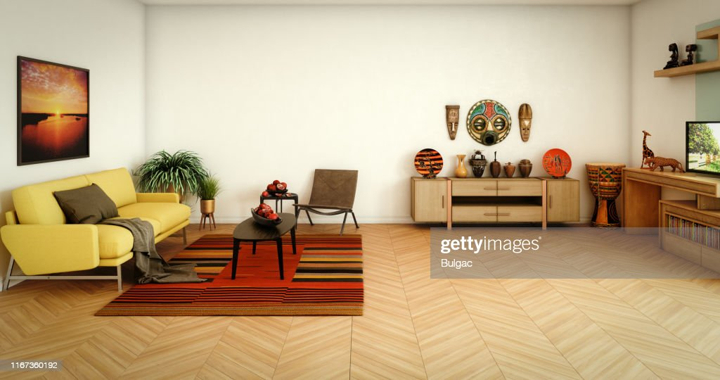 African Themed Living Room High-Res Stock Photo - Getty Images