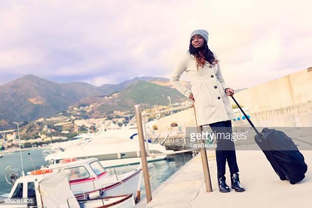 African tourist woman