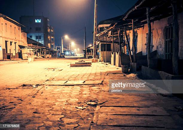African town by night.