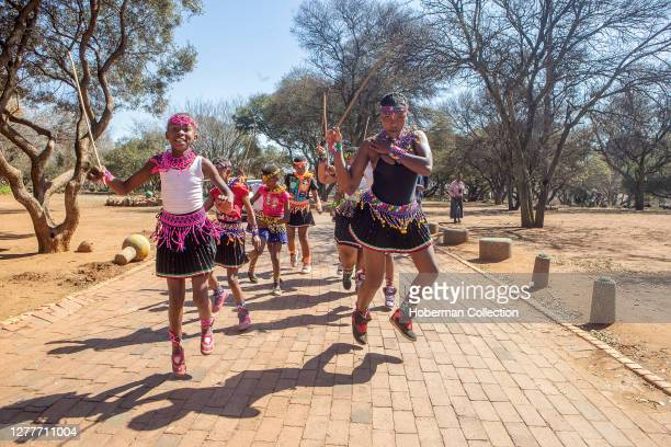 African traditional dancers at a wedding in Soweto township, South Africa
