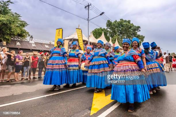 African traditional dancers at the Parys Flower Festival in South Africa