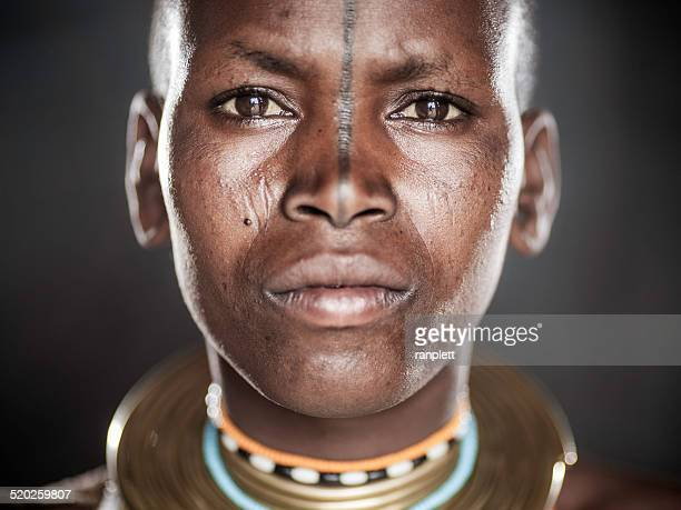african tribal portrait - indigenous culture stock pictures, royalty-free photos & images