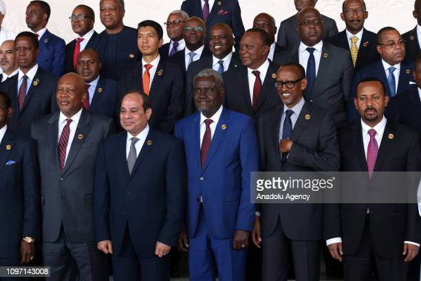 African Union Commission Chairperson Moussa Faki Mahamat Rwanda's President Paul Kagame Prime Minister of Ethiopia Abiy Ahmed President of Egypt...