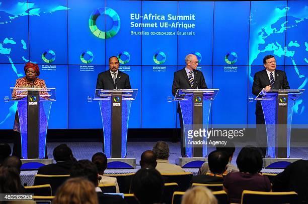 African Union Commission Chairperson Nkosazana Clarice Dlamini Zuma African Union President Mohamed Ould Abdel Aziz European Union Council president...