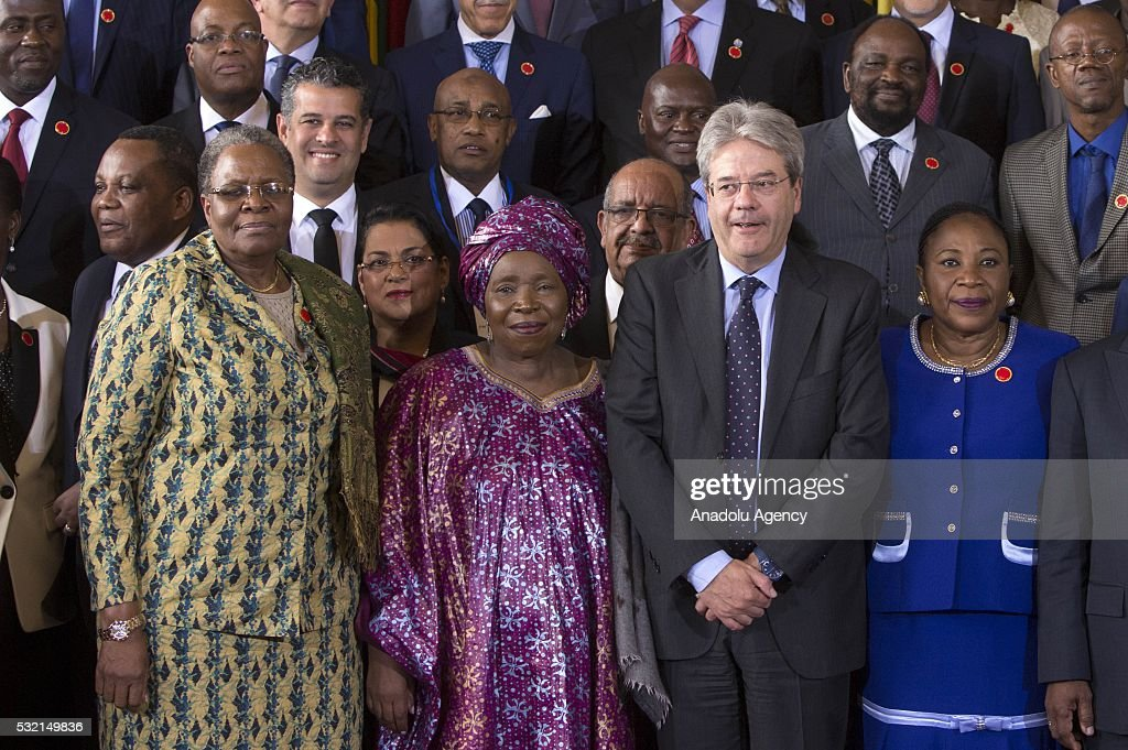 """Ministerial Conference """"Africa Italy"""" : News Photo"""