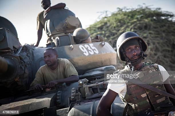 African Union soldiers from Burundi in a former Al Shabaab stronghold, Elasha Biyaha, outside Mogadishu, in Somalia, May 30, 2012. The strategic town...