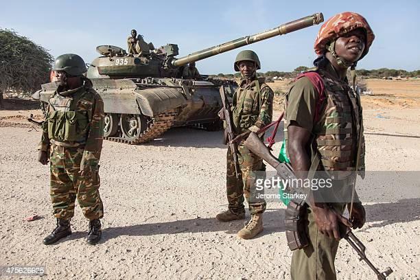 African Union soldiers from Burundi in a former Al Shabaab stronghold, Elasha Biyaha, outside Mogadishu, in Somalia. The strategic town on the Afgoye...