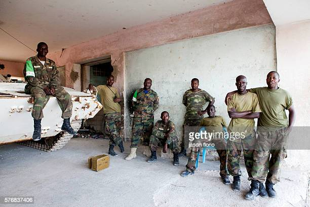 African Union soldiers from Uganda at their base within the Villa Somalia compound The AU forces are in Mogadishu to protect the TFG from the Al...