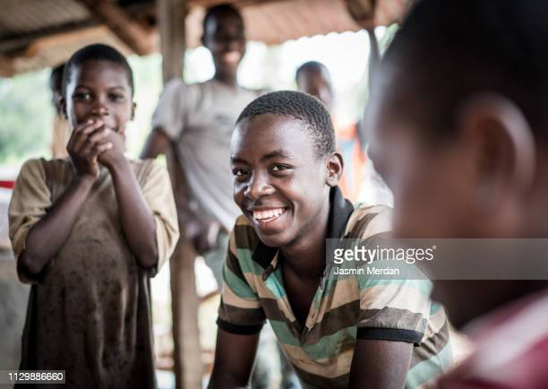 african village kids - poverty stock pictures, royalty-free photos & images