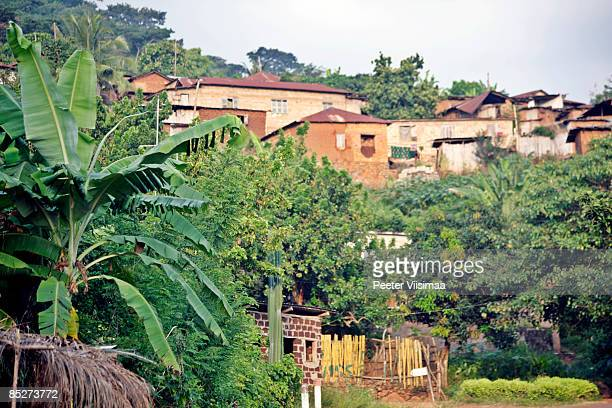 african village on the hills.