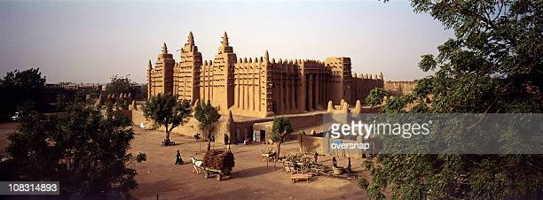 african village panorama - mali stock pictures, royalty-free photos & images