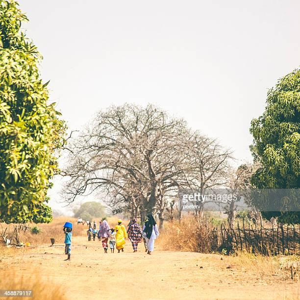 African village street.