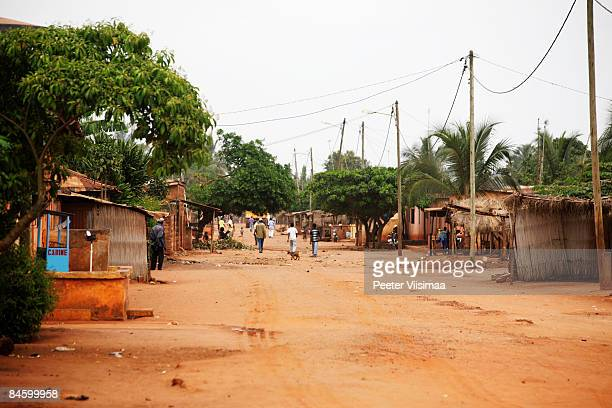 african village. tsevie, togo, west  africa. - togo stock pictures, royalty-free photos & images