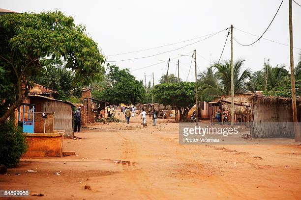 african village. tsevie, togo, west  africa. - togo fotografías e imágenes de stock