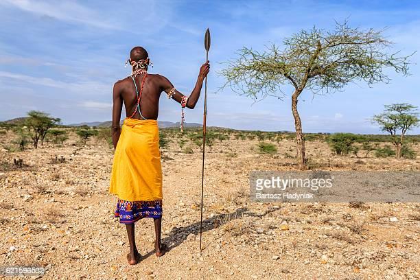 African warrior from Samburu tribe, central Kenya, East Africa