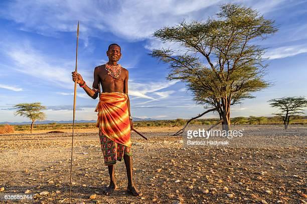 African guerrier de Samburu tribe, le centre du Kenya, Afrique de l'est
