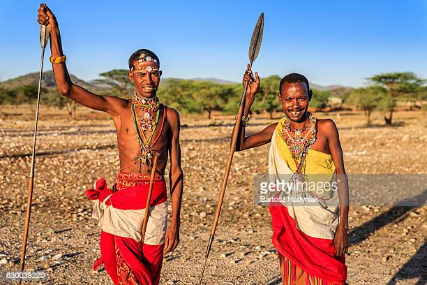 African warriors from Samburu tribe, central Kenya, East Africa