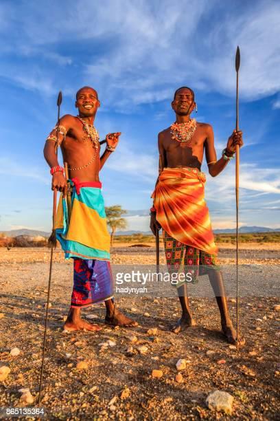 warriors de Samburu tribu de África, Centroamérica Kenia, África Oriental