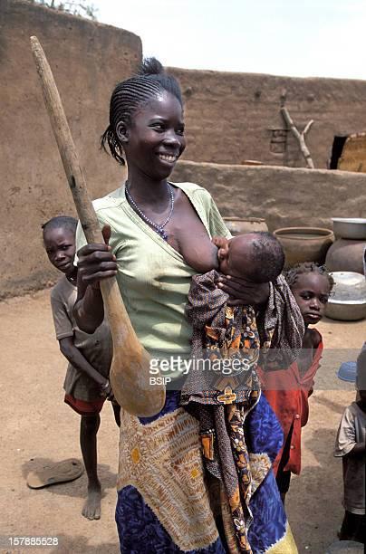 African Woman Child Population Of The Gourounssi EthnosVillage Tita Burkina Faso