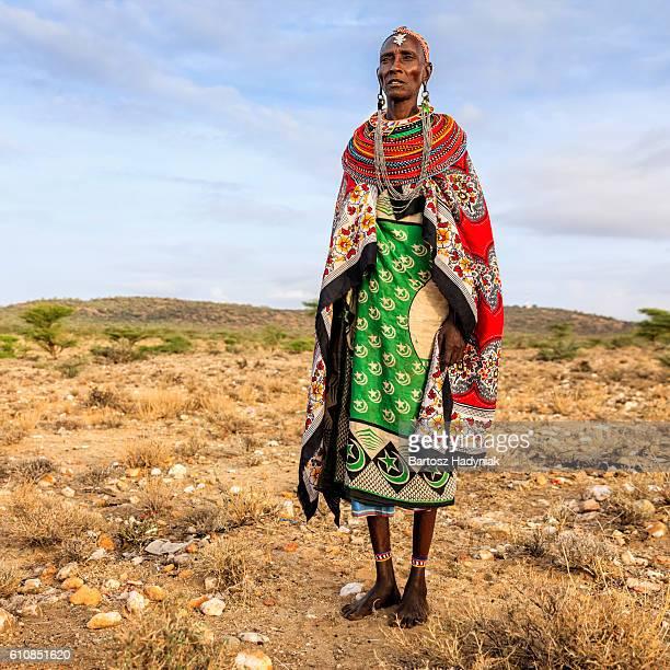 African woman from Samburu tribe, Kenya, Africa