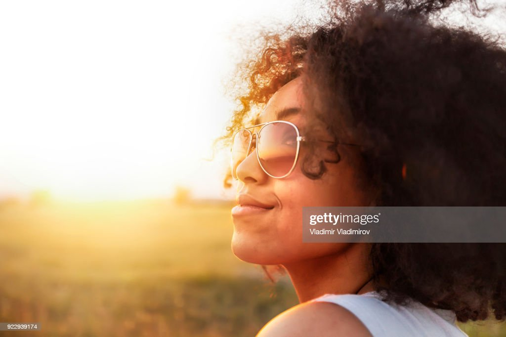 African woman having fun : Stock Photo
