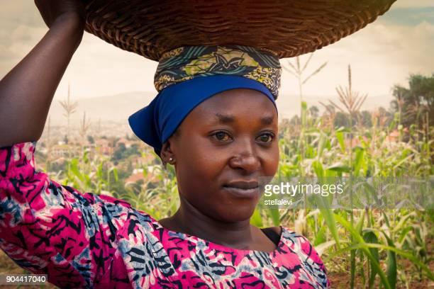 Afrikanische Frau Porträt, Kigali, Ruanda