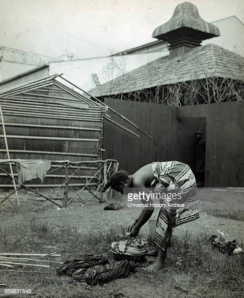 African woman washing clothes at the PanAmerican Exposition Buffalo NY