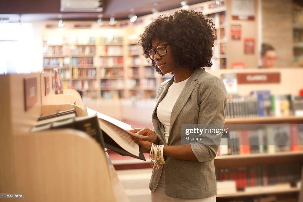 African women at bookstore : Stock Photo