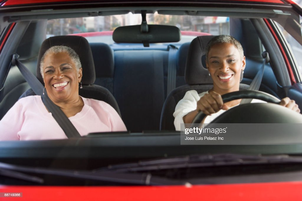African women driving in car : Stock Photo
