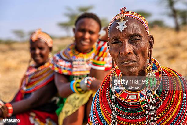 African women from Samburu tribe, Kenya, Africa
