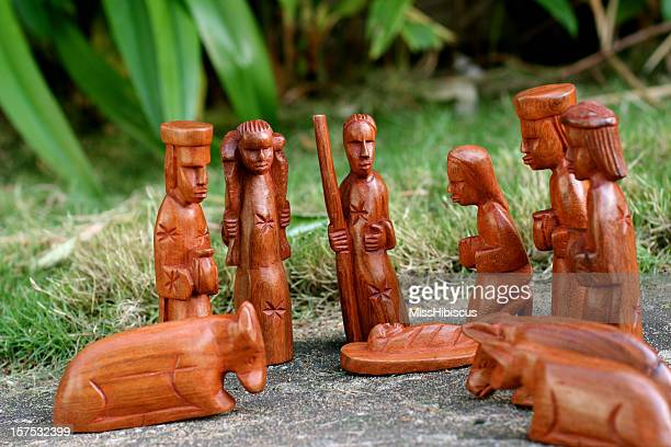 african wood nativity - liberia stock pictures, royalty-free photos & images