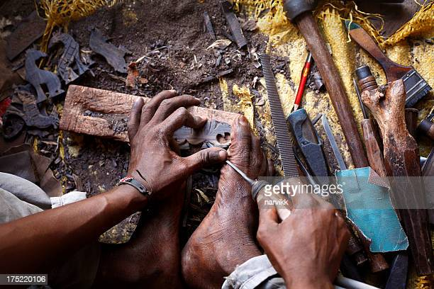 african woodcarver - carving craft product stock pictures, royalty-free photos & images