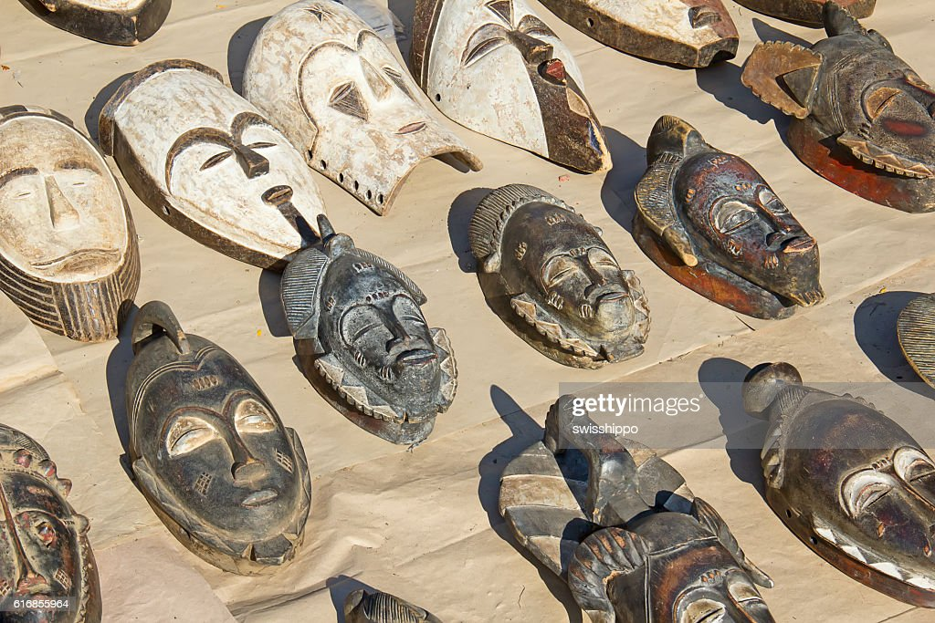 African wooden masks : Stock Photo