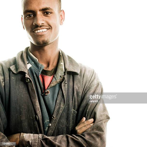African Working Class Man - Isolated on White