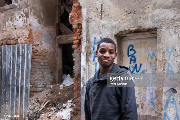 African youngster around an abandoned district of Tarlabasi, due to be restorated soon...