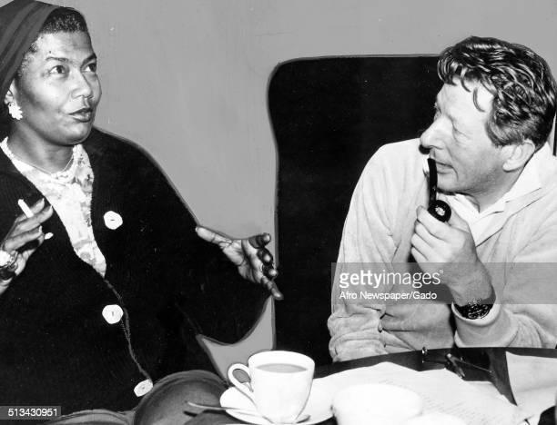 AfricanAmerican actress and singer Pearl Bailey and Danny Kaye talking November 28 1964