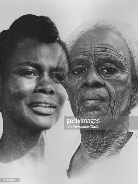 AfricanAmerican actress Cicely Tyson playing a former slave in the film The Autobiography of Miss Jane Pittman January 4 1973