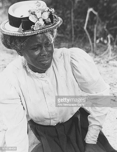AfricanAmerican actress Cicely Tyson playing a former slave in the film The Autobiography of Miss Jane Pittman 1973