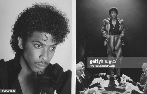 AfricanAmerican bassist songwriter and record producer Andre Cymone 1980